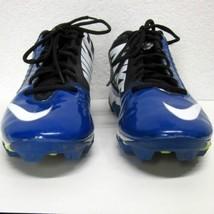 Nike Landshark Football Cleats Men's (9.5) Blue Black White Euc Fastflex Swoosh - $63.53