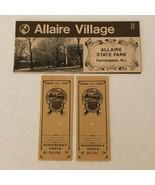 Allaire Village State Park Farmingdale NJ Vintage Souvenir Brochure Trai... - $9.99