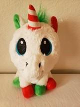 Six Flags Unicorn Game Prize Plush Stuffed Animal Christmas Holiday Gree... - $24.71