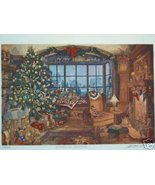 "Scott FitzGerald ""Fireside Christmas"" Color Etching COA - $373.30"