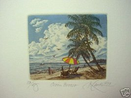 "Kathleen Cantin "" Ocean Breeze "" S/N Original # 14/495 - $31.79"