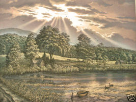 Kathleen Cantin Summer's Peace Mountain Meadow Etching - $295.00