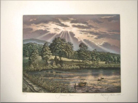 Kathleen Cantin Summer's Peace Mountain Meadow Etching