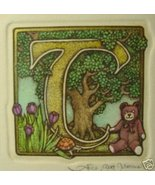 "Alice Scott Alphabet ""T"" Etching Original Signed - $14.19"