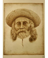 Richard Peters Southwest Man Sepia Print S/N LTD ED - $23.00