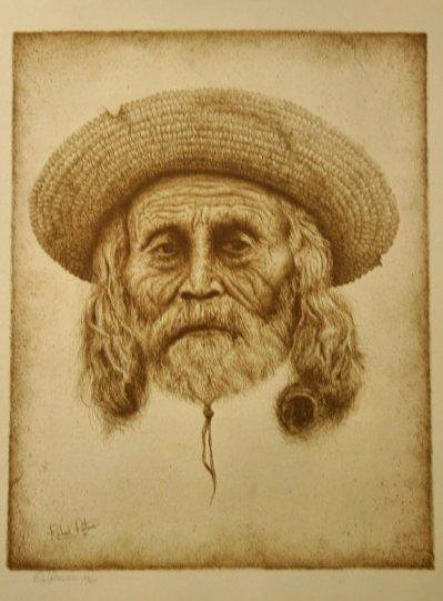 Richard Peters Southwest Man Sepia Print S/N LTD ED
