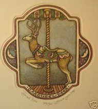 "Alice Scott ""Carousel Deer"" S/N Etching Original - $21.23"