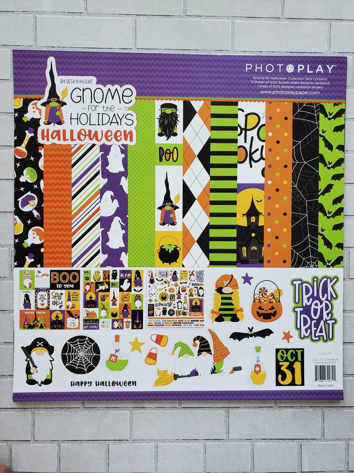 Gnome for Halloween KIT With Extra Papers! PhotoPlay. CLEARANCE