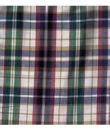 Large Oval Waste Over the Edge Basket Liner ~ Woven Traditions Plaid Fabric - $26.40