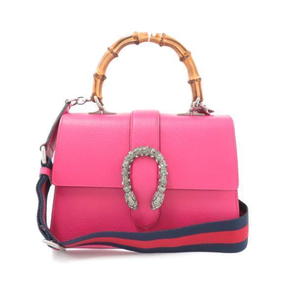 b4b8d58147 GUCCI Bamboo Hand Shoulder Bag Pink 448075 and similar items