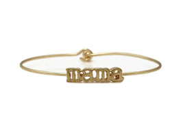 Mama Inspirational Message Stencil Wire Hook Clasp Bangle Bracelet - $12.95