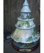 Bradford Heirloom Thomas Kinkade Christmas Village Tree Painted Scenes L... - $95.00