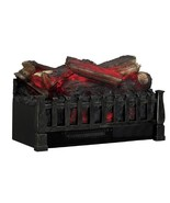 Fireplace Log Set LED Electric Zonal Heating Rolling Flame Kid Pet Safe ... - $149.49