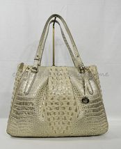 NWT Brahmin Adina Leather Tote/Shoulder Bag in Silver Birch Melbourne image 8