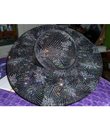 Black with Tiny Color Sparkles Fascinator Hat Charming and Great for Hol... - $49.99