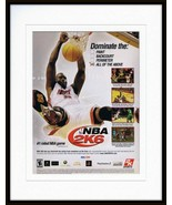 Shaquille O'Neal NBA 2K6 XBox PS2 Framed 11x14 ORIGINAL Vintage Advertis... - $34.64
