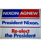 24 Vintage NIXON / AGNEW Bumper Stickers - $12.99