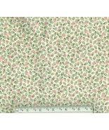 Pink Rosebud Fabric, cotton pink floral quiltin... - $9.94