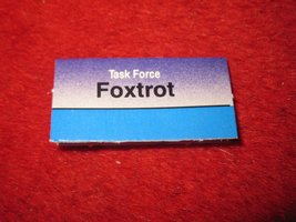 1988 The Hunt for Red October Board Game Piece: FOXTROT Blue Ship Tab- NATO - $1.00
