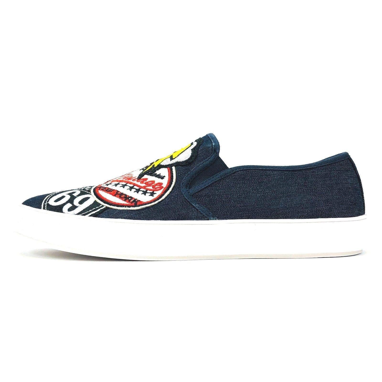 Steve Madden Wasdin Navy Blue or Military Denim Slip On Loafers Mens Vintage image 15