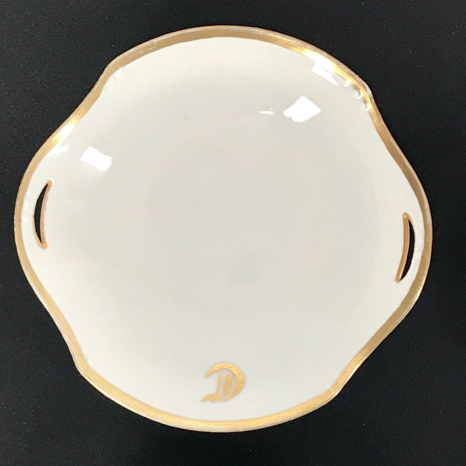 Vintage Made In Germany 1916 A.L.C Small China Dish Bowl Gold Trim Lot Of 4