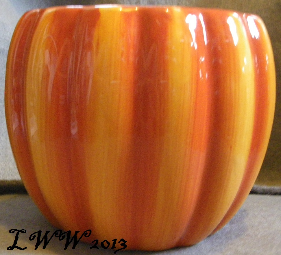 Autumn Fall Orange Pumpkin Shaped Planter Pot 6 5 Inch But