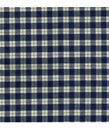 Longaberger Blue Ribbon Plaid Mending Basket Liner - $13.66