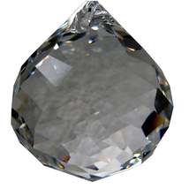 Swarovski 30mm Clear Swirl Cut Ball Prism image 1