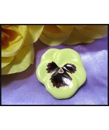 Vintage AVON Porcelain Pansy Pin 1981 in Box - $7.99
