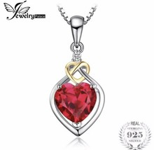 925 Sterling Silver Anniversary Love Knot Heart Pendant Necklace [PEN-178] - $27.72
