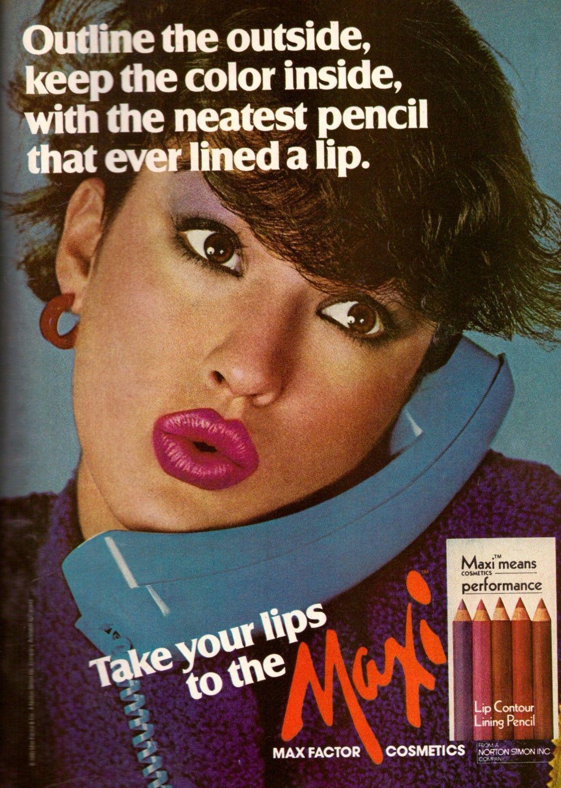 1980 Max Factor Janice Dickinson Maxi Print and 50 similar items