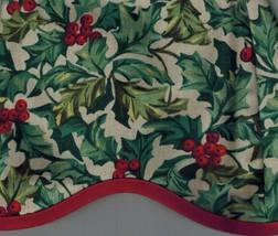 Longaberger Get Together Basket Liner - American Holly Fabric - $14.69