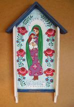 Saint Anne with Virgin Mary Ann painting shrine... - $119.00
