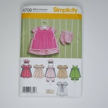 Simplicity 4709 Sewing Pattern Babies Dress Pinafore Pantaloons Size XXS... - $9.89