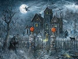 SunsOut Uninvited Guest Halloween 500 pc Jigsaw Puzzle Halloween Pumpkin... - £29.76 GBP