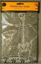 Halloween Spiderweb Skeleton Spider Lace Mesh Door Hanger Curtain 38 by ... - $4.98
