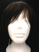 HUMAN HAIR CROWN CLOSURE TOP WIG WITH BANG HUMAN HAIR TOP PIECE W/ FRINGE