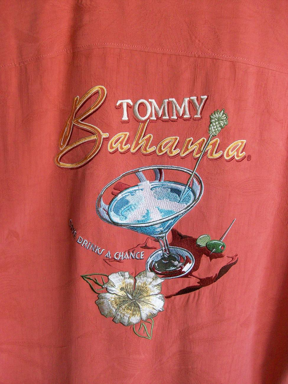 Tommy Bahama Men's Shirt, Give Drinks a Chance, Sz M, Barcelona, New