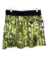 Sz L - NWT$36 Apt. 9 Green Leaf Print 100% Rayon Mini A-Line Skirt - $18.99
