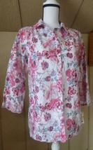 $59.00 Charter Club Women's Floral Print Eyelet Cotton Shirt, Bright White - $14.65