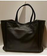 100% Authentic Bottega Veneta Large Ayers trim Tote in black leather.  EUC! - $957.72