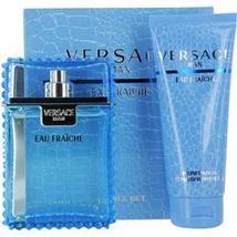 Versace Man Eau Fraiche 3.3 Oz Spray + 3.3 Oz Shower Gel 2 Pcs Gift Set image 5