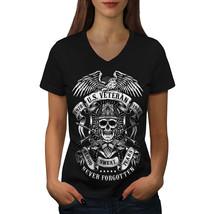 USA War Veteran Slogan Shirt  Women V-Neck T-shirt - $12.99+