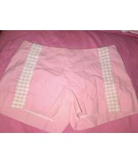 Lilly Pulitzer Liza Seersucker Pink Shorts Sz 2 Hot!  - $39.59