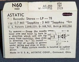 ASTATIC N60  NEEDLE for Astatic 131 133 134 Astatic 136 137 for 164-SS73 Sears image 3