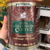 Kirkland Signature 100% Colombian Coffee, Dark Roast, 3 lbs FREE SHIPPING - $29.99