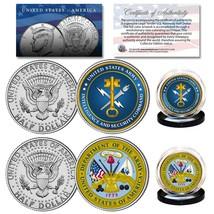Army & Usa Intelligence Branch Jfk Half Dollar Military 2-Coin U.S. Set - $13.98