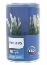 Lot 4 Philips 18ct Christmas LED Micro String Fairy Lights BatteryOperated White