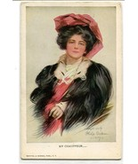 My Chauffeur Beautiful Lady Philip Boileau artist signed 1910c postcard - $7.45