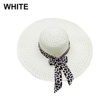 NEW 2019 Bowknot Flat Straw Beach Hat Women Floppy Fashion Lady Fold Wid... - $9.05